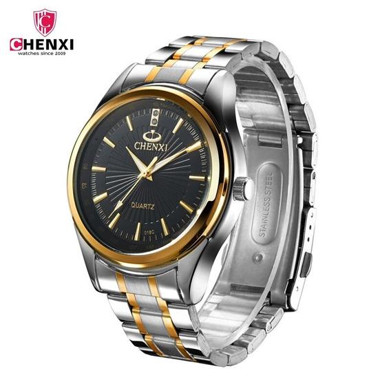 Relógio De Pulso Masculino Luxo Social Pulseira De Aço