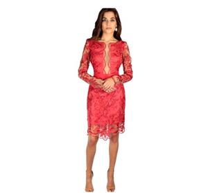 Vestido Guipir Belíssimo Vermelho
