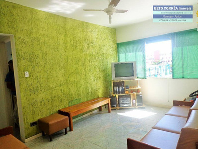 Guarujá, Enseada Excelente Apartamento, 1 Amplo Dorm, 2 Banheiros, Excelente Local. - Ap0255
