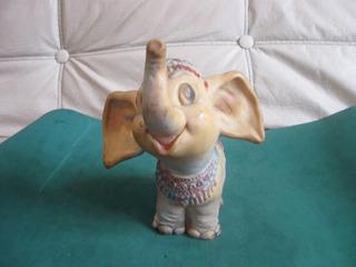 Antiguo Muñeco De Goma De Elefante De Circo
