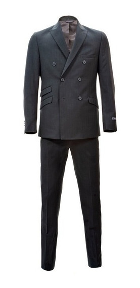 Traje Slim Fit Para Caballero Bruno Corza Color Gris Oxford