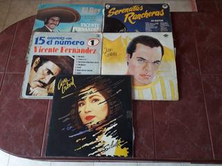 Discos De Acetato Vicente Fernández Preciox 5discos