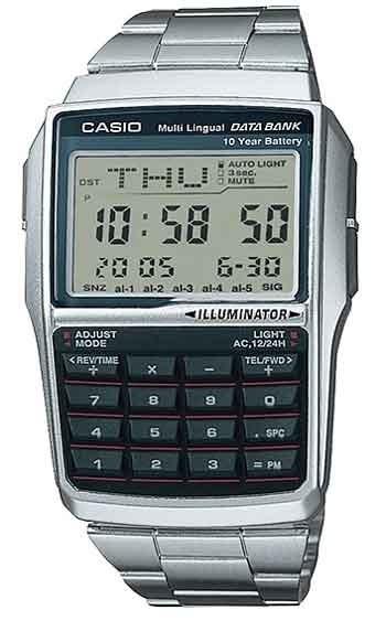 Relógio Casio Masculino Data Bank Calculadora Dbc-32d-1adf