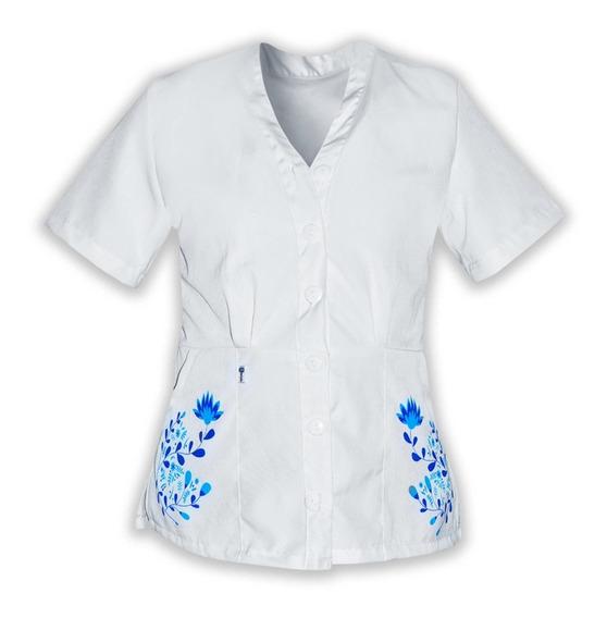 Uniforme De Enfermeria Para Dama A Botones Y Sublimada K14
