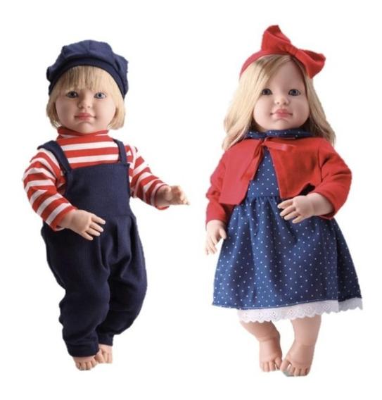 2 Boneca Gemeos Loui E Louise Bebe Grande -bambola Brinquedo