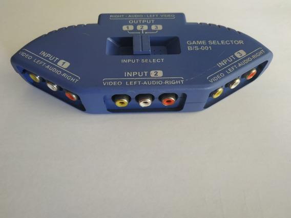 Derivador Áudio E Vídeo Rca Av Interruptor Selector De Jogo