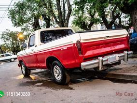 Ford F-100 V8 Caja 5ta Gnc 1977 Blanco Rojo