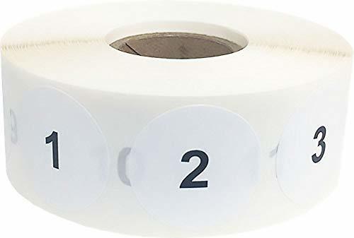 Imagen 1 de 3 de Etiquetas De Numeros Consecutivos 1-1000 Etiquetas De Nume