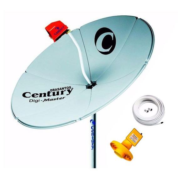 Antena Digimaster Century Parabolica + Lnbf Super Multiponto