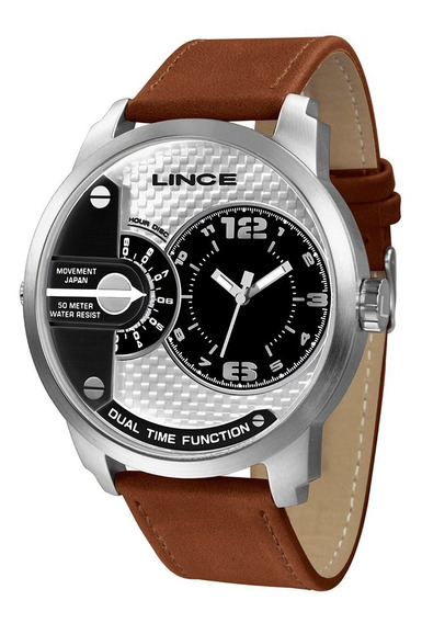 Relógio Lince Masculino Dual Time Mrch080s