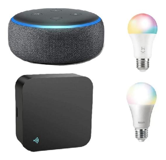 Kit Casa Inteligente, Echo Dot 3 + Controle Wi-fi + Lâmpadas