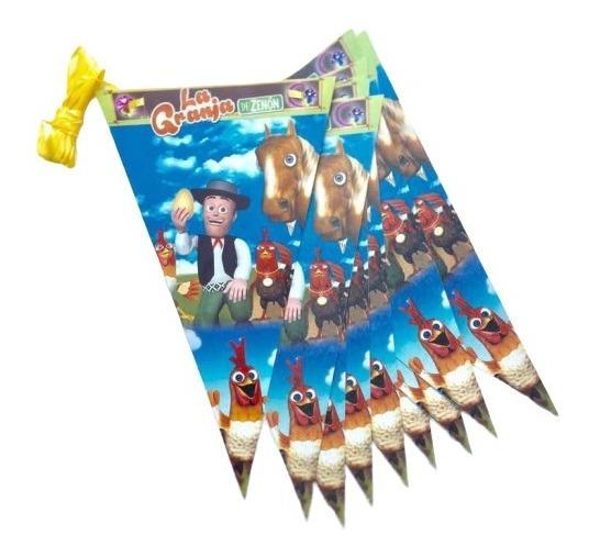 Granja De Zenón Guía De Banderines 2 Mts De Largo Fiesta
