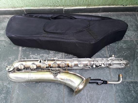 Sax Baritono Viking Usa Lp Saxofone De Luthier Troco+$