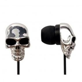 Mini Fone De Ouvido Skull Prata Maxprint - 60772-2