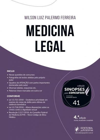Sinopses Para Concursos - Vol 41 - Medicina Legal - Juspodiv