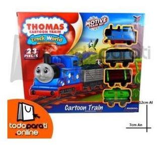 Set De Tren Thomas Cartoon Train 23pzs