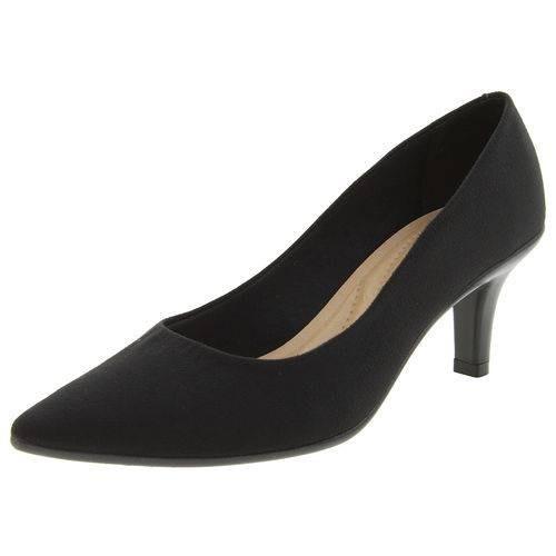 e9a75b4e0 Scarpin Camurça E Napa Preto Salto 7cm Sapato Beira Rio 3td1 - R$ 69,90 em  Mercado Livre