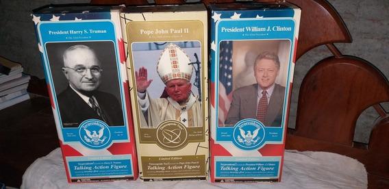 Lote Bonecos Personagem Presidentes Usa Mais Papa João Paulo