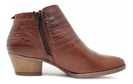 Zapato De Dama Tipo Botín De Cuero Vacuno Casual Y Vestir