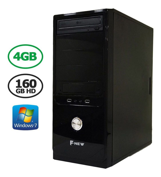Computador Desktop 4gb Hd 160gb Hdmi Wind7 F-new