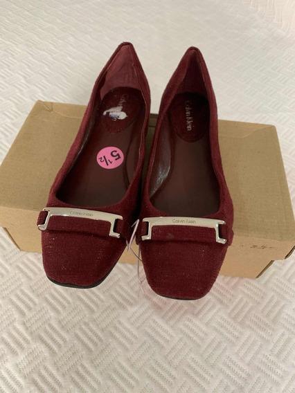 Zapato Calvin Klein De Dama 100% Original Color Vino Ck 22.5