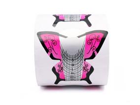 Moldes Adesivos Borboleta Para Unha De Porcelana Gel Com 300