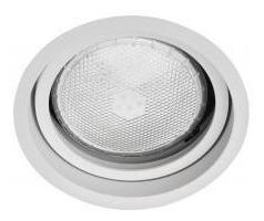 Embutido Basculante 360º Alumínio Recuado Ø145mm Para Par30