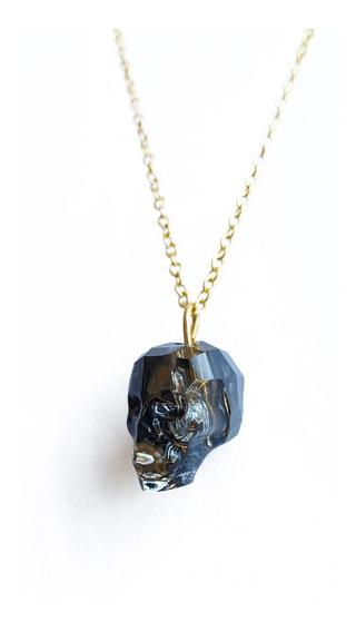 Collar Swarovski Skull Silver