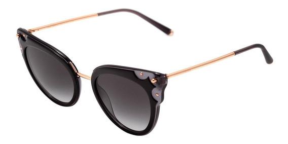Dolce & Gabbana Dg 4340 - Óculos De Sol 501/8g Preto E Doura