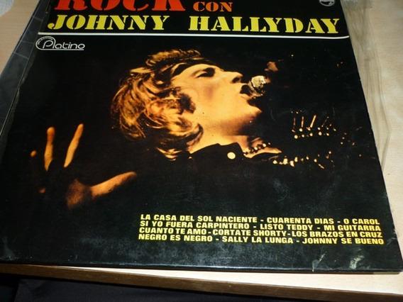 Johnny Hallyday Rock Con Vinilo Argentino Vg