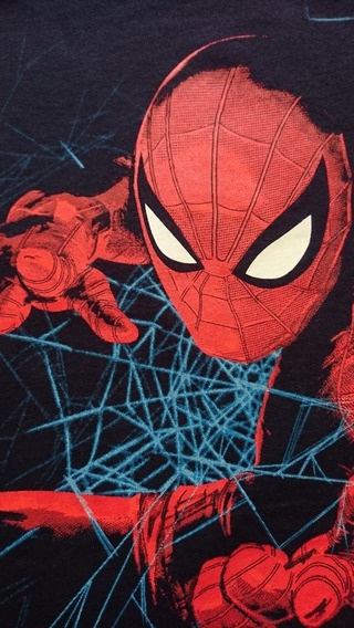 Camiseta Spiderman Homecoming Azul Marino Marvel Heroes