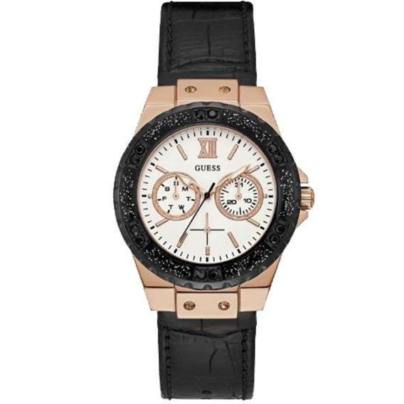 Relógio Feminino Guess 92601lpgsrc8 Multifunção Couro Preto