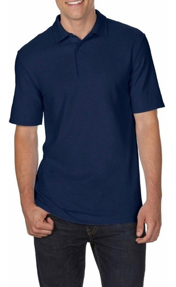 Camiseta Polo Tallas Extra 2xl 3xl 4xl 5xl Azul Oscuro(big And Tall) Original