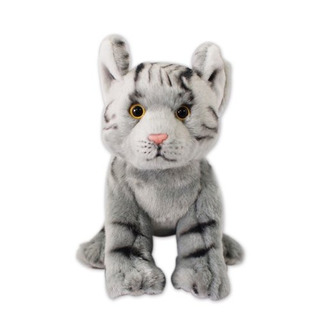 Nat And Jules Grey Tabby Cat Plush Toy, Small