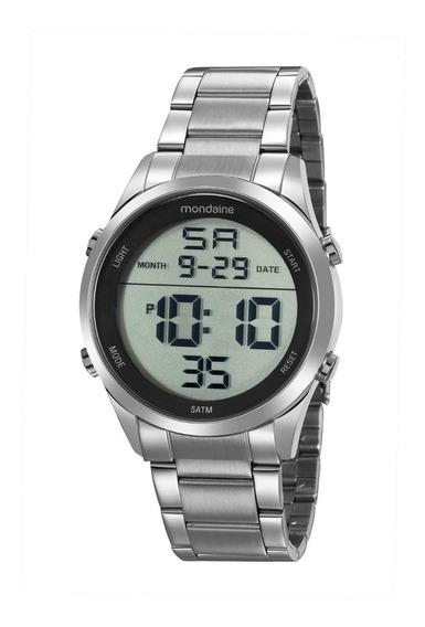 Relógio Mondaine Masculino Digital Prata Original E Nf-e