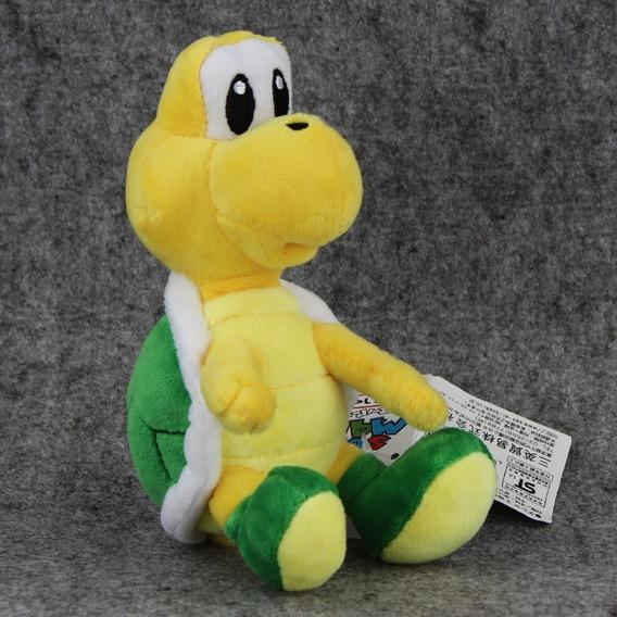 Boneco Pelúcia Koopa Troopa 17 Cm Super Mario Nintendo