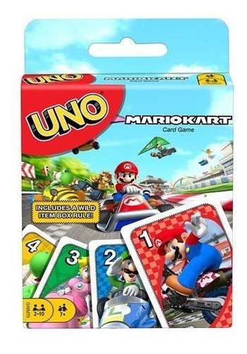 Carta Mario Kart Uno Game