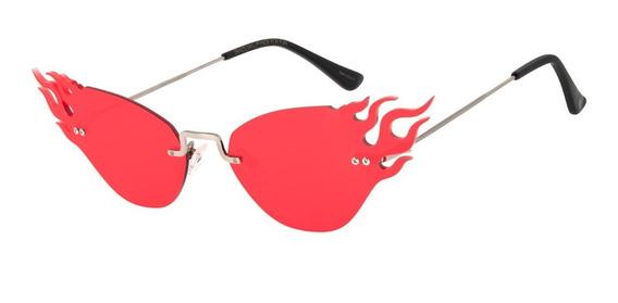 Óculos De Sol Feminino Chilli Beans Chama Vermelho