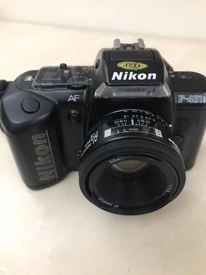 Câmera Nikon F 401s - Lente