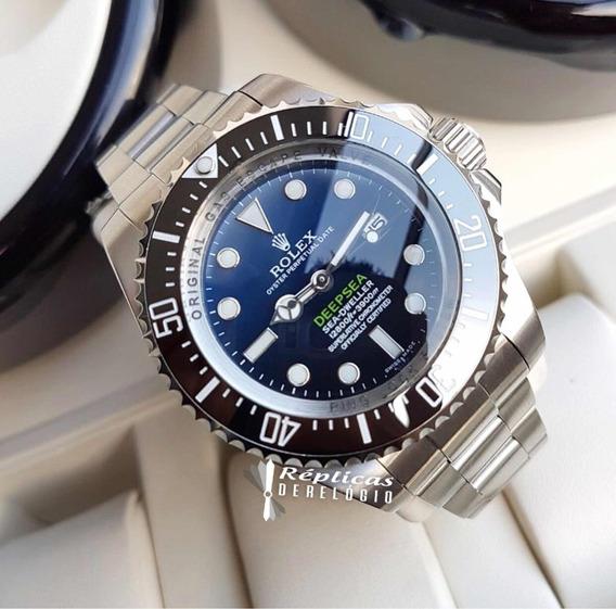 Relógio Rolex Prata Deepsea Azul Degrade Automatico