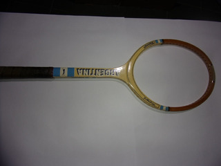 Raqueta Tenis Slazenger Vilas Madera Antigua De Coleccion