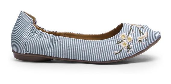Zapato Tipo Flat Para Mujer Capa De Ozono Bordado
