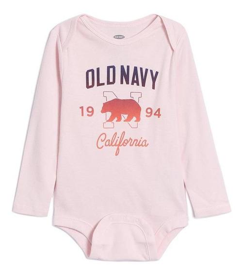 Ropa Para Bebé Pañalero Niña Manga Larga Puntos Old Navy