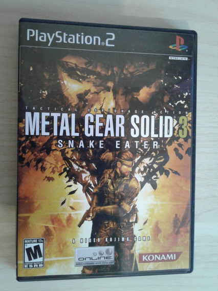 Metal Gear Solid 3 - Playstation 2 - Completo