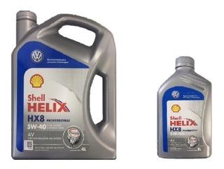 5 Lt Aceite Shell Helix Hx8 5w40 100% Sintético Vw Scirocco