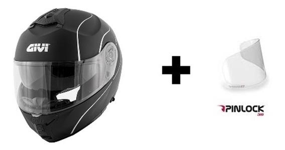 Capacete Givi X21 Graphic Preto Fosco + Pinlock Original