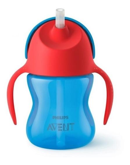 Vaso Antiderrame Pajita Curva 200ml +9m Avent Straw Cup