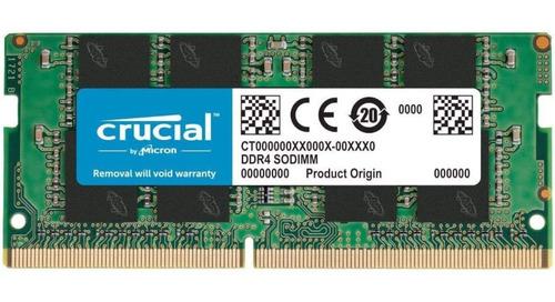 Memória Para Notebook Crucial 16gb Ddr4 2666hz Ct16g4sfra266