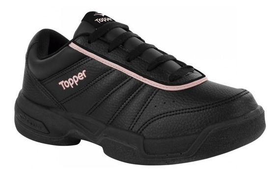 Zapatillas Topper Modelo Tenis Tie Break 3 Negro/rosa