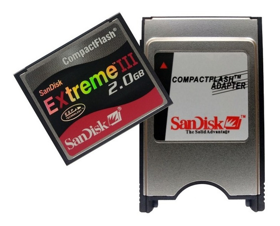 Kit Cf 2gb + Adaptador Pcmcia Sandisk